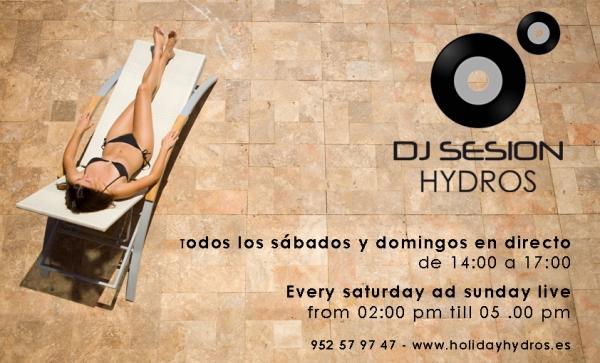 Sesiones DJ en la Terraza Lounge Hydros